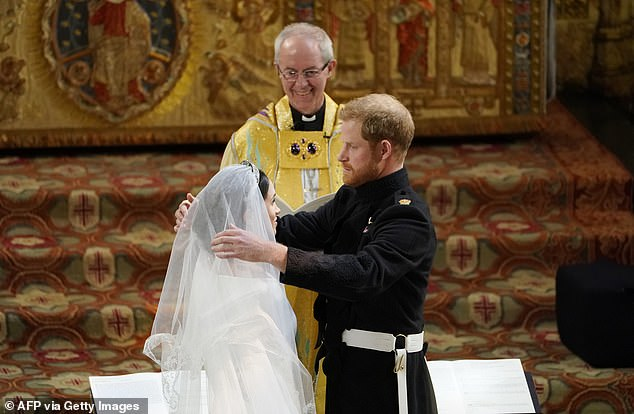 Justin Welby presided over the wedding of the Duke and Duchess of Sussex at Windsor Castle in 2018, having earlier joined them for an exchange of vows in Kensington Palace Gardens