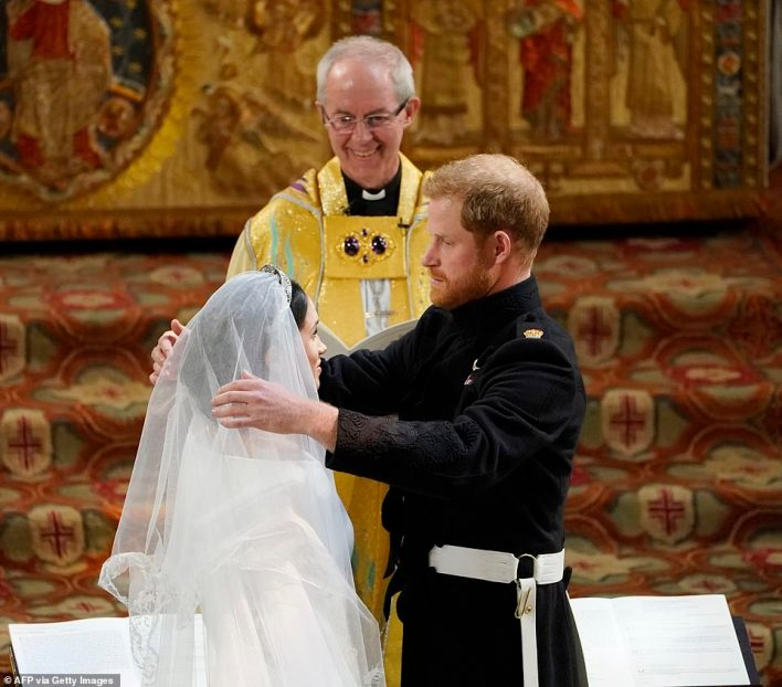 Justin Welby presided over the wedding of the Duke and Duchess of Sussex at Windsor Castle in 2018