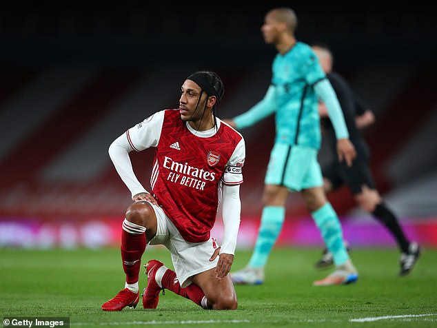 The striker had a miserable game against Liverpool and was one of the worst performers