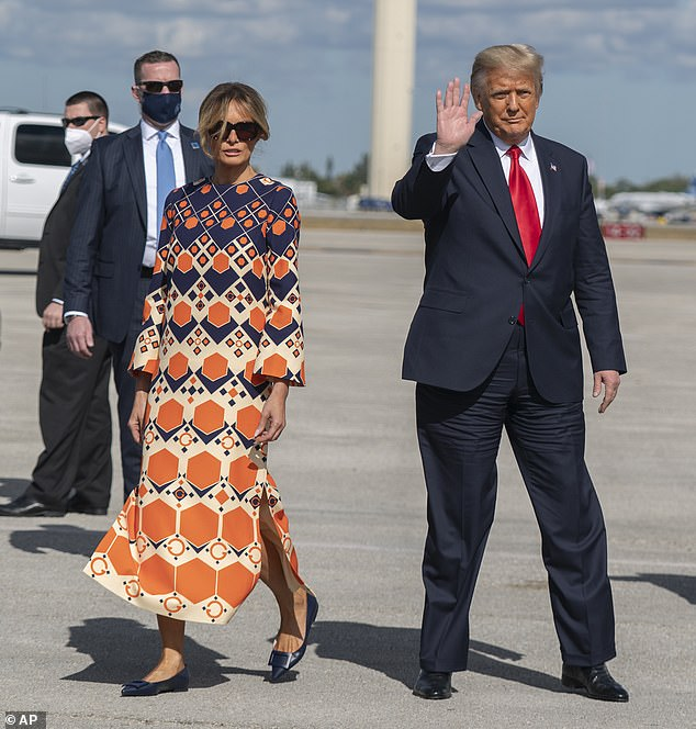 A sign? When Melania and Donald left Air Force One, the mother-of-one famously refused to stop for the photographers, instead strutting off while her husband waved and posed