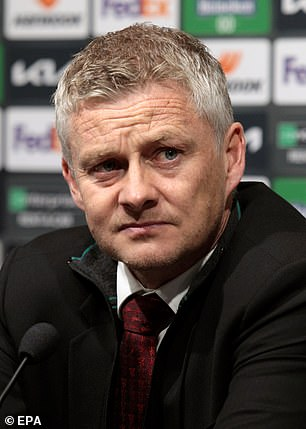Scholes also believes Manchester United (pictured, manager Ole Gunnar Solskjaer) would spend £150m just to sign the striker