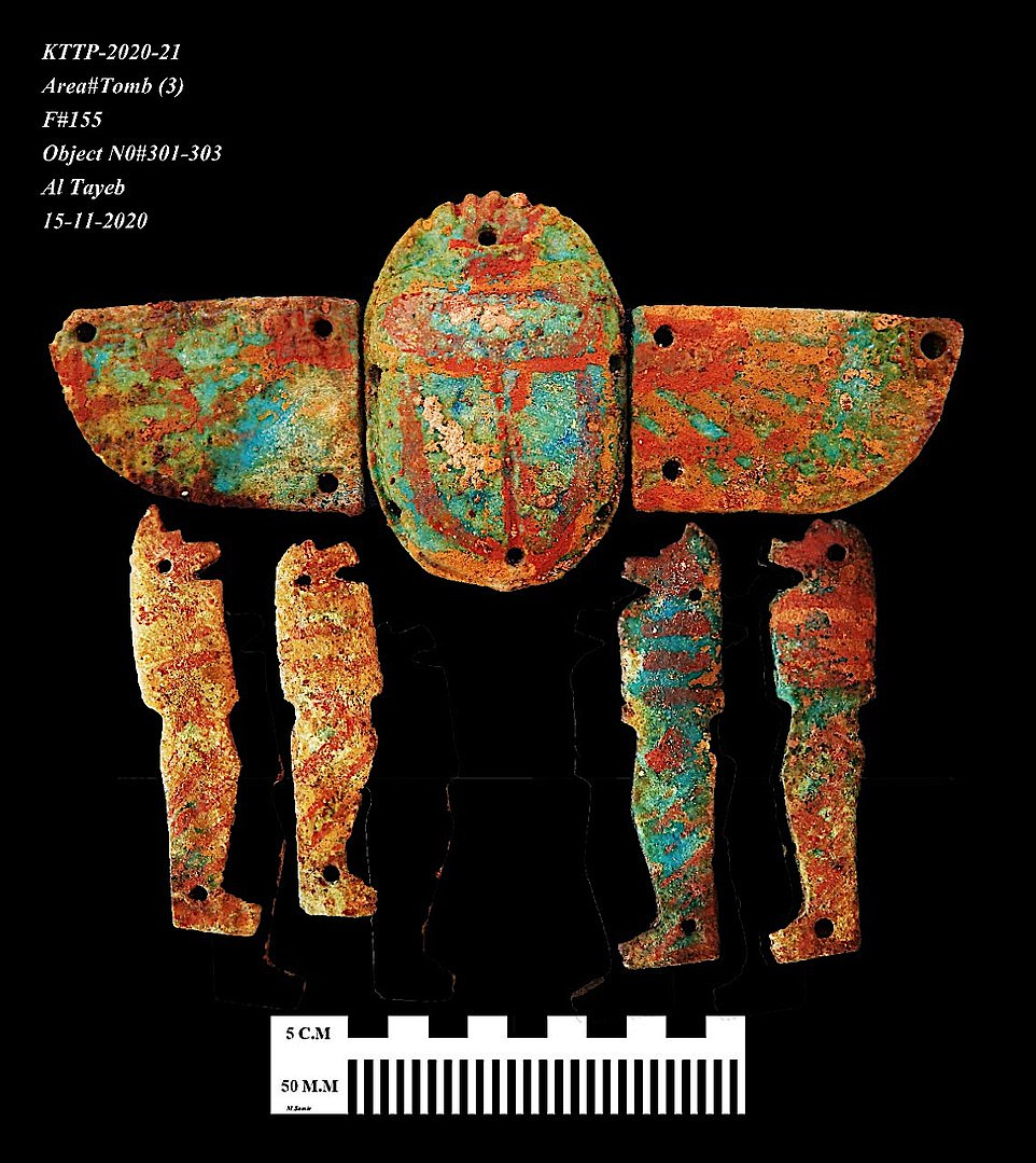 'This is further evidence of the extensive activity in the city to produce decorations for both temples and tombs,' archaeologists said.
