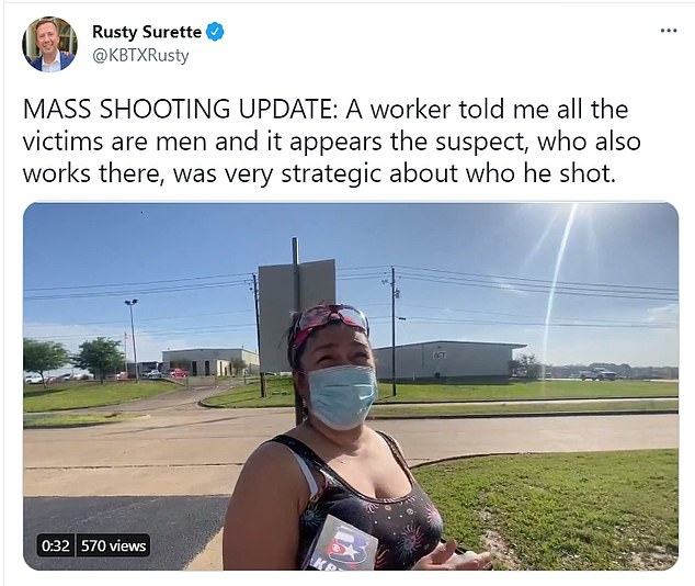 One worker told KBTX that all of the shooting victims are men and that she heard booms she thought were equipment malfunctioning at the plant