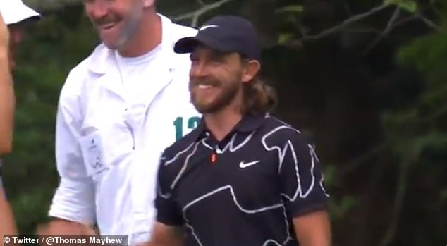 Tommy Fleetwood bagged another hole-in-one during his opening round at Augusta