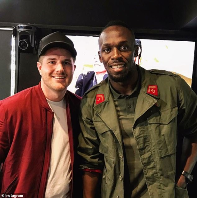 Commentary: The radio duo have been regularly discussing their former colleague on air as his behaviour on the Nine show becomes increasingly problematic , and their segments offer a unique insight into the reality TV villain's personality. Bryce is pictured here with Usain Bolt