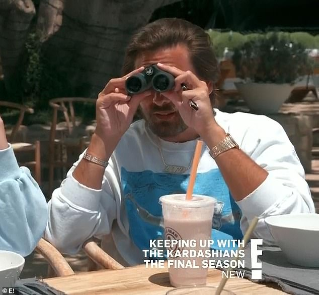 Hooking up: Scott Disick said they'd once thought Addison was 'hooking up' with Kourtney