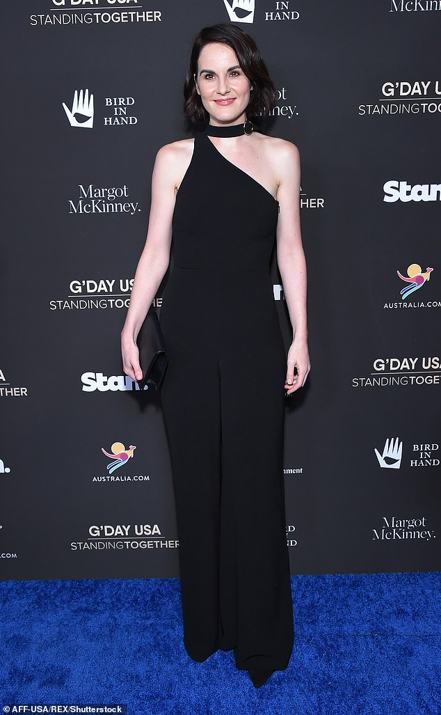 Star studded: The cast list will also includeDownton Abbey actress Michelle Dockery as the high-flying prosecutor who believes the politician is guilty of the crime