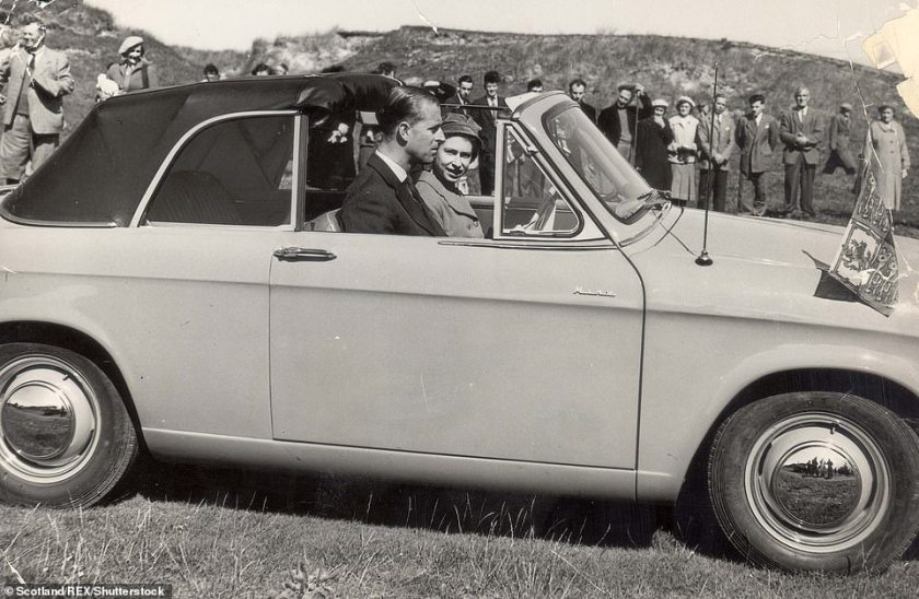 In 1957, a statement from the Queen's spokesman denied a rift between her and Prince Philip (pictured in August 1956 on a visit toSouth Mist And Benbecula, Scotland)