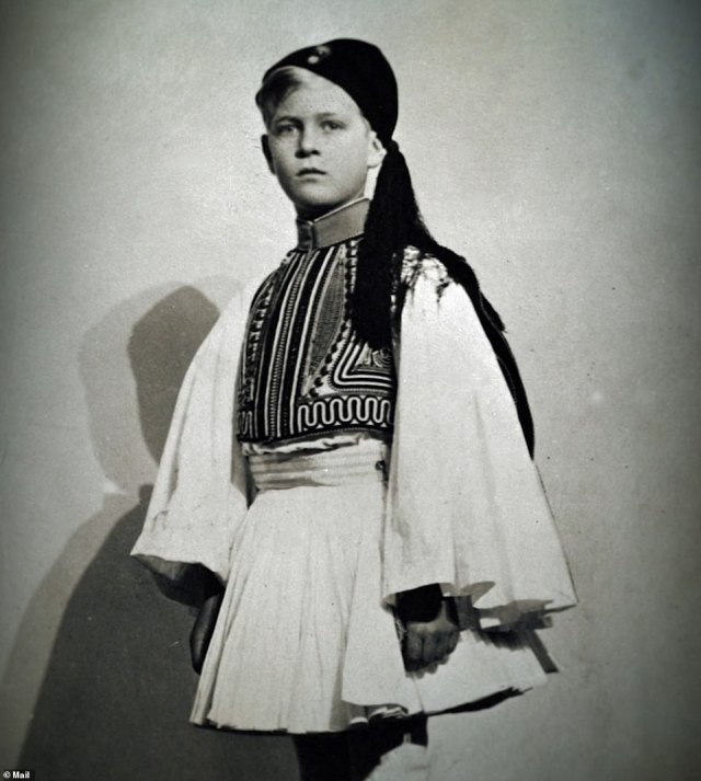 His family fled Corfu in December 1922 after his father, in the Greek army, was arrested and charged with high treason