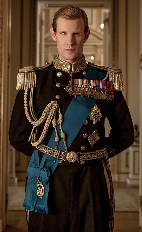 Actors Matt Smith (pictured) and Tobias Menzies (right) who both played Prince Philip in The Crown paid tribute to 'the man' after the Duke of Edinburgh's death aged 99