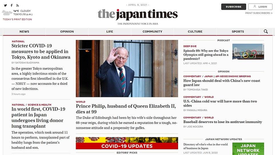 The Japan Times: Prince Philip, husband of Queen Elizabeth II, dies at 99