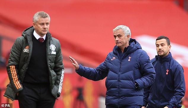 Solskjaer (left) insists he has the upmost respect for Tottenham manager Mourinho (right)