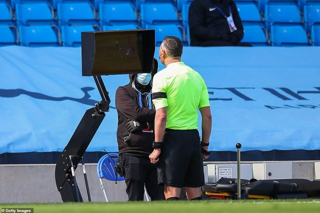 Video Assistant Referee David Coote intervened to advise Marriner to award Cooper a red card instead of a yellow