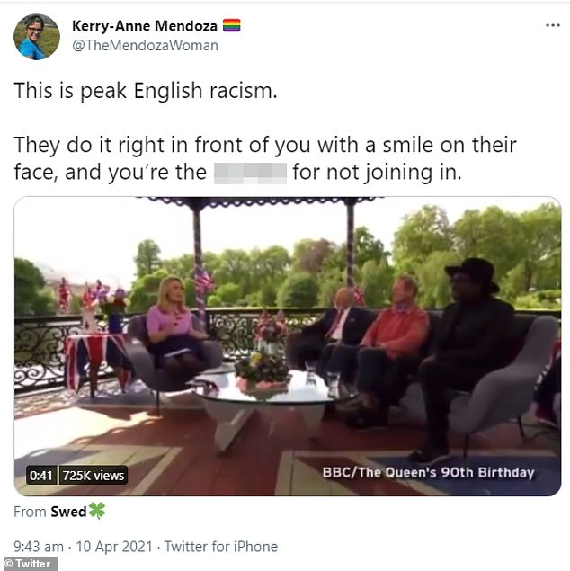 Kerry-Anne Mendoza, editor of a far-left online news website, claimed Jason's comments were 'cutting edge English racism'