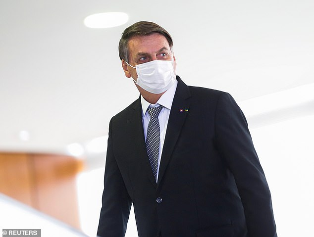 President Jair Bolsonaro (pictured) awaits investigation into his handling of the outbreak