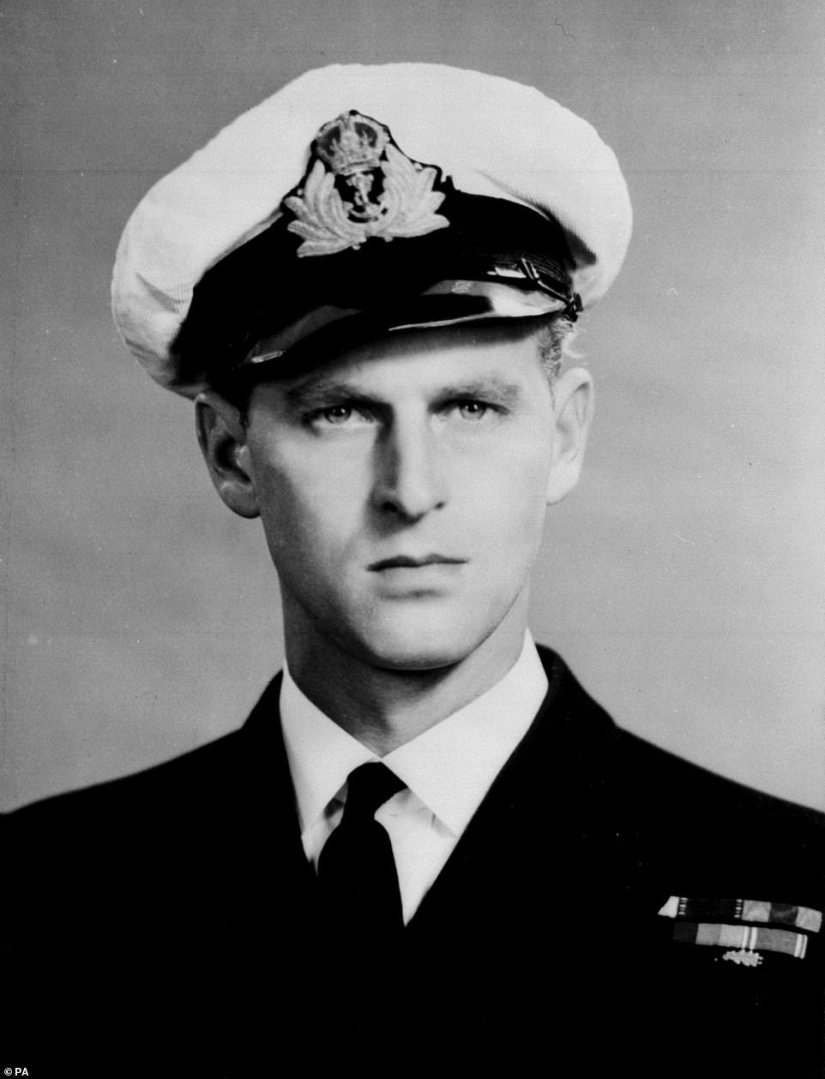 As an eager, and brilliant, young recruit to the Royal Navy,Philip served bravely, was decorated and promoted, and ended that war having risen from midshipman to a naval officer who colleagues thought might have made it all the way to Admiral (Pictured in 1946)
