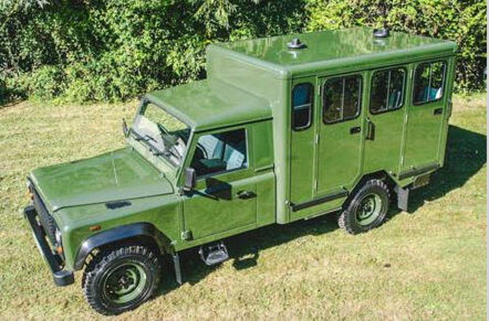 The Duke of Edinburgh's coffin will be transported in a ceremonial procession to his funeral on a Land Rover (pictured above) which he helped to design. Land Rover said they built the special vehicle from a Td5 130 model after a 45-minute meeting with Prince Philip at Sandringham