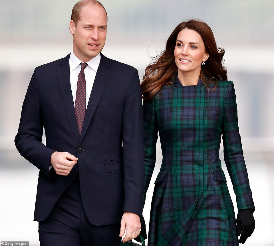 Kate, Duchess of Cambridge (pictured with William in 2019), the Princess Royal's husband Vice Admiral Timothy Laurence and Sophie, Countess of Wessex could be at the funeral