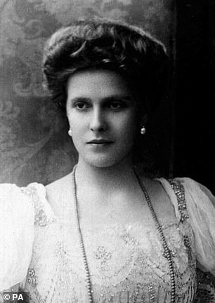 Document states baby's mother was 'her Princess Royal Aliki' (Alice, pictured), whose father Louis, Prince of Battenberg was 'born at Windsor Castle'