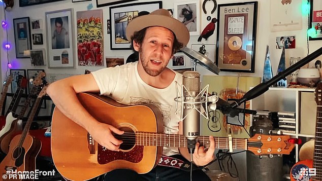 Another big name: Ben Lee [pictured] will play its pandemic hymn We are all together