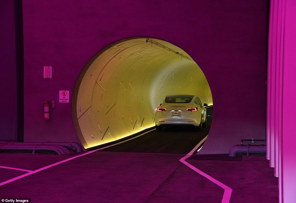 The tunnels measure 13.5 feet outer diameter and 12 feet inner diameter