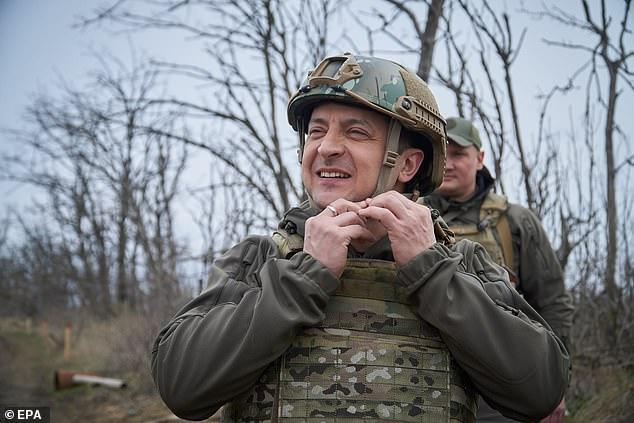 Ukrainian President Volodymyr Zelensky visited the conflict zone in eastern Ukraine