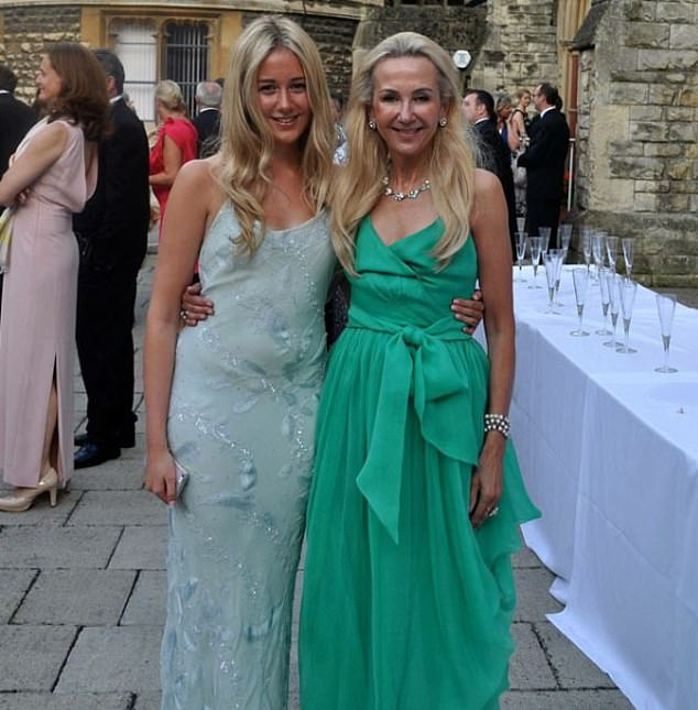 Emma Villiers, pictured with the couple's daughter, Clarissa, has not responded to the claims