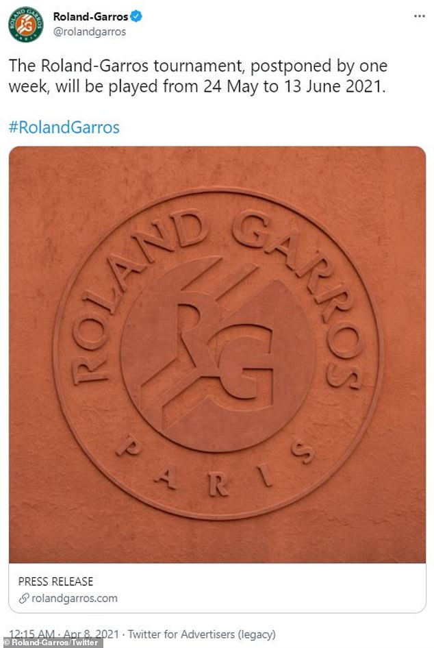 `` The most energizing city for me is Paris '': Serena will then participate in the French Open aka Roland-Garros, which will take place from May 24 to June 13
