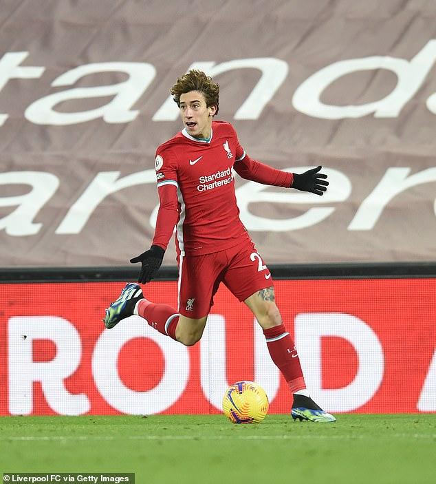 Liverpool's Kostas Tsimikas is 'making progress' despite barely featuring this season