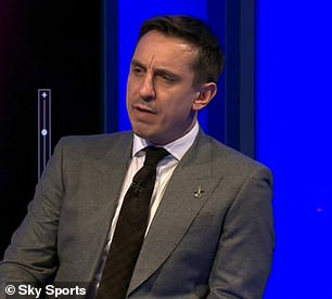 Neville praised United's second-half display against Spurs but insisted the Red Devils 'did not play well' in the first-half