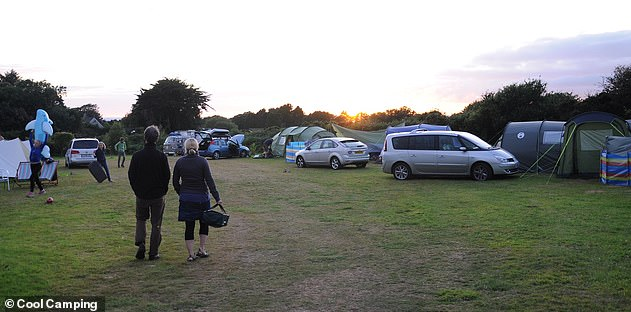 The British Caravanners Club states on its website: '12 April: This will be our earliest opening date for sites in England. It is likely that we will not be able to open facility blocks, so we will only be able to welcome self-sufficient campers.' Pictured: A Cool Camping site