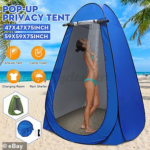 Pictured: A portable camping shower