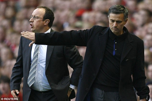 After being sacked in 2007-08, Mourinho goaded Benitez for his lack of Premier League titles