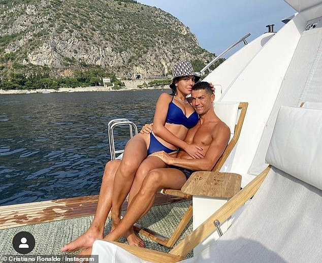 Smitten:The Juventus ace, 36, and his model beau, 27,famously met while she was working as a retail assistant in Madrid, as they caught eyes across the rails in Gucci in 2016