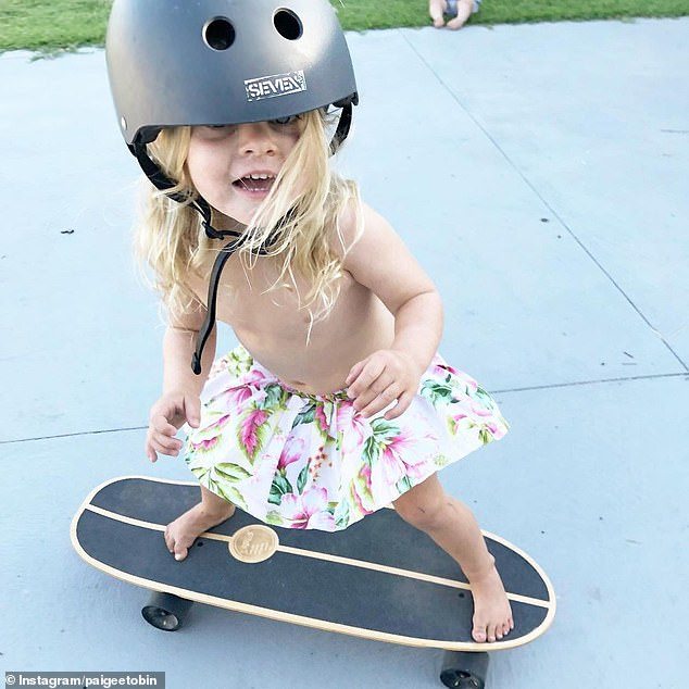 Paige has been playing around with extreme sports since a very young age. Her Instagram account, which is run by her parents, has photos of her on a skateboard at as young as two