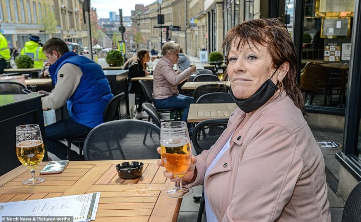 Police are monitoring pubs and restaurants' activities as they welcome back outdoor diners and drinkers in Newcastle today