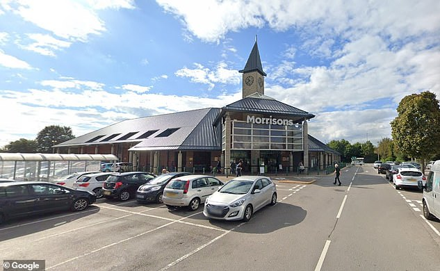 A newborn baby was found dead by a member of the public just after 9am in a Morrisons in Bilston, Wolverhampton (the supermarket, pictured)