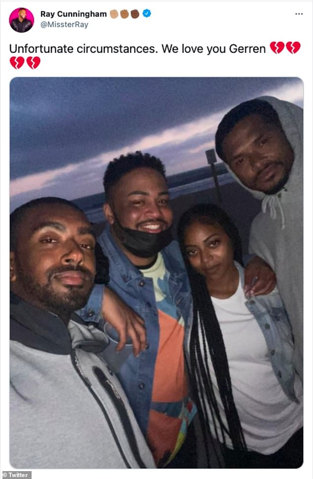 `` I've known @mstaylorxo since 2006 '': Love and Hip-Hop alumnus Ray Cunningham (2-L) shared a video and snap of the pair and admitted he would probably drink alcohol this evening to `` not cry ''