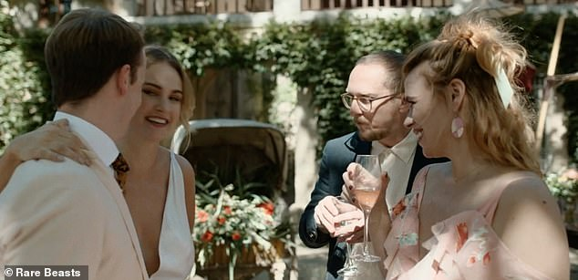 Co-stars: Lily James also appears in the film as a friend of Billie's character