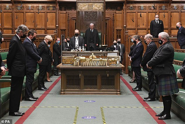 House of Commons holding a minute's silence in remembrance of HRH Prince Philip, Duke of Edinburgh, in London, April 12