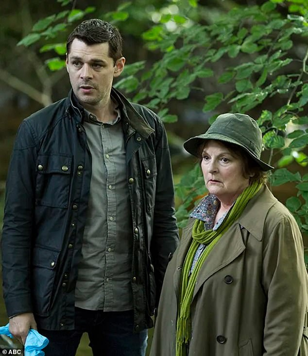 Priorities: The ABC received hundreds of complaints from viewers after its breaking news coverage of Prince Philip's death interrupted a repeat of British crime drama Vera. Pictured: Vera actorsKenny Doughty (left) and Brenda Blethyn (right)