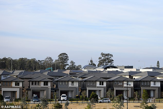 Australians buying a home to make money are urged to avoid assuming a house in an outer suburb will surge in value because of a boom. Pictured are houses in western Sydney