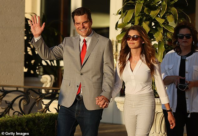 Gaetz was joined by fiancée Ginger Luckey, 26, whom he proposed to last December
