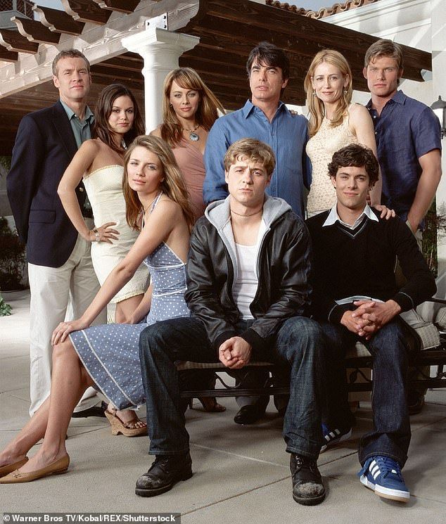 The O.C. focused on the life of troubled teenager Ryan Atwood, played by Ben McKenzie, as he navigated growing up in an affluent neighborhood of Orange County, California (cast pictured)