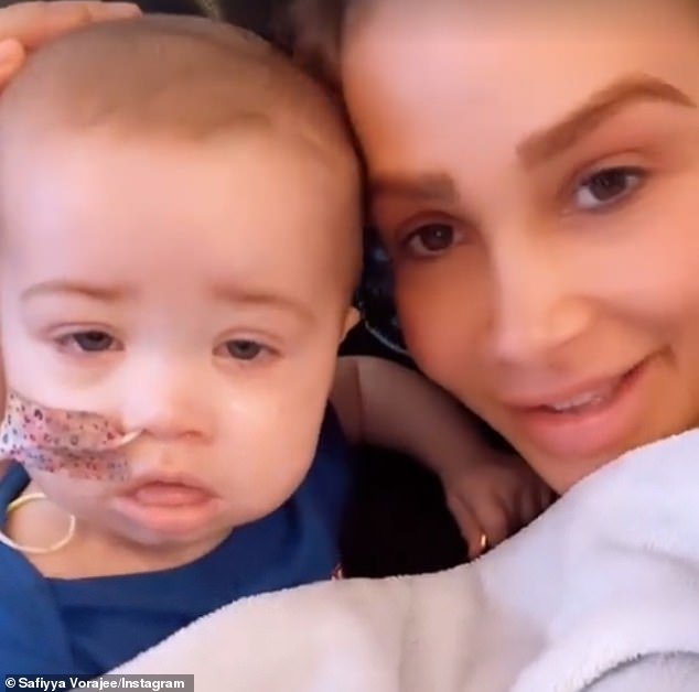 Heartbreak:It comes after Safiyya revealed she has planned a tattoo tribute to her daughter Azaylia, as the tot continues her fight against leukemia