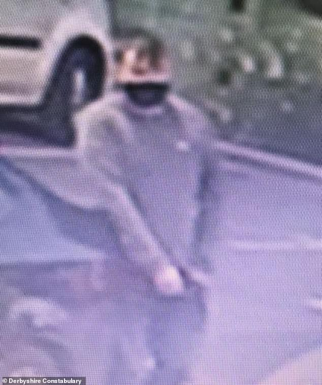 Derbyshire Constabulary have released an image of a man they are seeking in connection with this incident (pictured)