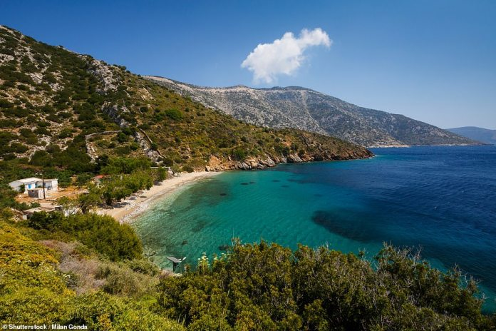 The island of Fourni, where in-the-know Greeks go for summer holidays. It has beautiful beaches and bays, lapped by the clearest of seas