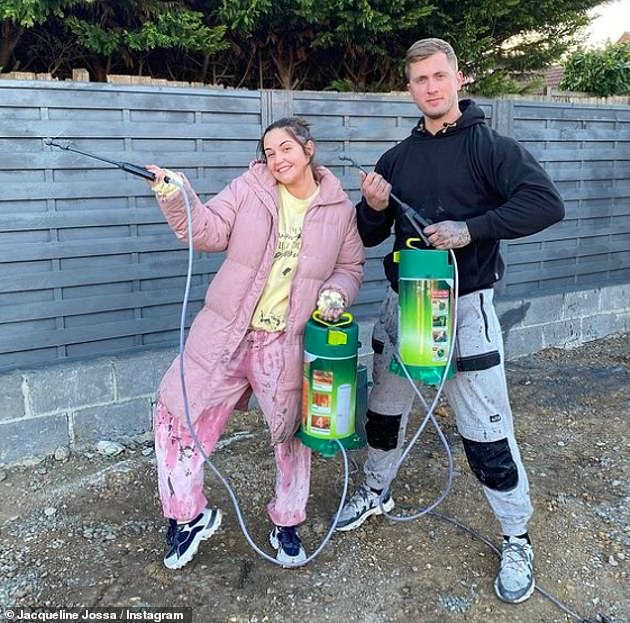DIY: Jacqueline and Dan openly documented their changes to the property on social media, with a hilarious Instagram post last week showing and then attempting to spray paint the fence.