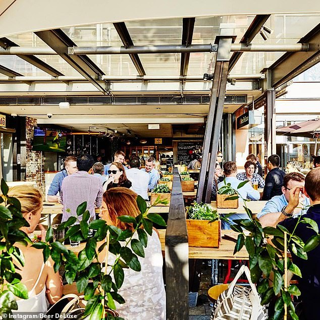 Pictured: Beer DeLuxe in Sydney, which is one of the bars included in the deal in Barangaroo