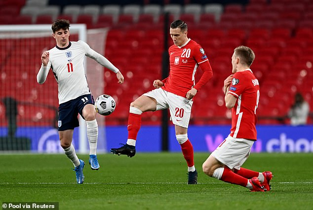 England vs Poland at Wembley Stadium, London, on March 31 this year for qualification